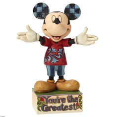 4049637 You're The Greatest (Dad Mickey)- Mickey is the Greatest in this heartfelt tribute to everyone everywhere in this colorful design handcrafted in the unmistakable style of Jim Shore #jimshore #collectable #disney