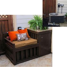 A Tiny Courtyard Makeover - Fine Gardening Article Outdoor Rooms, Outdoor Living, Outdoor Decor, Outdoor Ideas, Ac Unit Cover, Ac Cover, Air Conditioner Cover, Air Conditioning Units, Home Projects