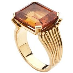 Retro Citrine Gold Ring