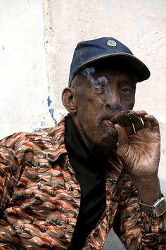 ...a real Cuban cigar....Vedado , Havana, Cuba....by Marie-Marthe Gagnon