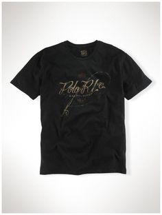 5e7ab171890d4 polo ralph lauren italia - Polo Ralph Lauren Classic Fit Col Rond T-Shirt  Noir