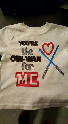 Star wars Valentine shirt obi-wan - Star Wars Tshirt - Trending and Latest Star Wars Shirts - Star wars Valentine shirt obi-wan Disney Valentines, Valentines For Boys, Valentines Day Shirts, Valentine Ideas, Star Wars Onesie, Star Wars Tshirt, Vinyl Shirts, Cool Shirts, Kids Shirts