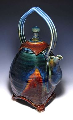 Pottery Teapots, Teapots And Cups, Ceramic Teapots, Ceramic Pottery, Pottery Art, Sculpture Textile, Teapots Unique, Intelligent Design, Kintsugi