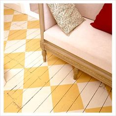GAP Interiors - Floorboards painted with checkered patterns - Picture library specialising in Interiors, Lifestyle & Homes