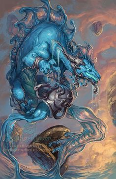 SixthLeafClover - Zodiac Dragons 2014 - Aquarius