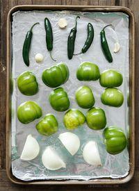 Brenda this one you made Homemade Roasted Tomatillo Salsa Verde Tomatillo Salsa Verde, Salsa Picante, Roasted Tomatillo Salsa, Tomatillo Recipes, Salsa Verde Recipe, Spicy Salsa, Mexican Dishes, Mexican Food Recipes, Vegan Recipes