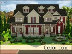 The Sims Resource: Cedar Lane house by Jaws3 • Sims 4 Downloads