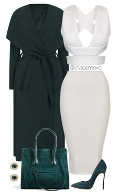 White x Teal by efiaeemnxo on Polyvore featuring polyvore fashion style Casadei Givenchy