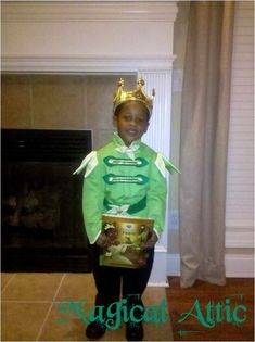 Custom Boutique PRINCE NAVEEN of The Princess and the Frog Disney Movie Child Size Costume For Boys. $75.00, via Etsy.