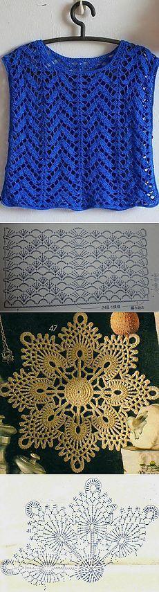 Схемы вязания узоров крючком | Подружки