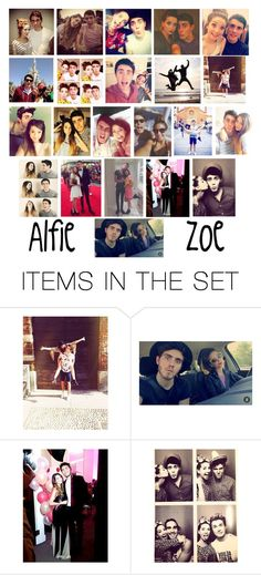 """""""Alfie and Zoe ~ Zalfie"""" by desireewolfe ❤ liked on Polyvore featuring art, zalfie, Zoella and alfie"""
