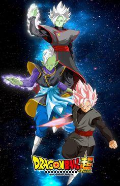 Goku Black, Zamasu, and Fusion Zamasu Dragon Ball Z, Cool Backgrounds Wallpapers, Animes Wallpapers, Dbz, Zamasu Fusion, Evil Goku, Zamasu Black, Broly Movie, Otaku