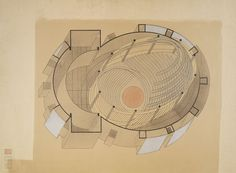 Total Theater for Erwin Piscator, Berlin, 1927: Isometric Drawing