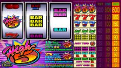 Free High Five slot game wagering; bets ranging from 75 cents to $15.00 maximum per spin when playing all 3 coins. http://www.gamesandcasino.com/casino-games/high-five.htm #free #slot #game