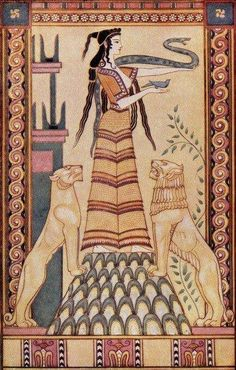 Hygeia - The Snake Goddess of Crete is a Goddess of Health and healing, cleanliness and regeneration. The word hygiene is derived from her name.