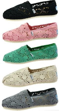 Lace toms... love for the summer
