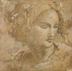 Michelangelo: Angel's face Michelangelo, Renaissance Kunst, Italian Renaissance, 30 Day Art Challenge, Chef D Oeuvre, Classical Art, Western Art, Famous Artists, Portrait Art