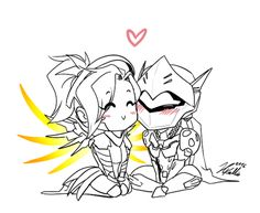 Overwatch Mercy and Genji Overwatch Comic, Overwatch Memes, Overwatch Fan Art, Genji And Hanzo, Overwatch Drawings, Romance, Paladin, Manga, Nerdy