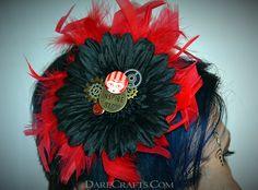Tina Hair Flower #DEHF45 #hairflower #steampunkaccessories #hairaccessories #hairflowerclip