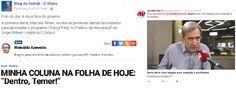 """Antes de Dilma Rousseff cair, há quase um ano, alguns colunistas da velha mídia adoravam apontar o dedo para os blogueiros de esquerda como """"chapa branca"""". Mas o que aconteceu com eles após a saída do PT do governo? Continuam combativos defensores da ética na política ou depende? Confira três casos emblemáticos. O dublê de …"""