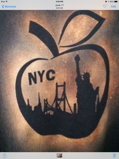 small nyc apple tattoo - Google Search