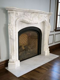 doors for bedrooms antique white carrara marble rococo louis xv fireplace 11460