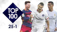 Lionel Messi, Zlatan Ibrahimovic and Cristiano Ronaldo feature in the top 25
