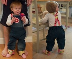 How to: make baby dungarees from adult jeans