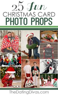 25 Fun Christmas Card Photo Props- such cute ideas!!!!  Love this Christmas picture ideas!