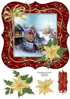 cards for all - Diane Furniss - Picasa Web Albums Christmas Decoupage, 3d Christmas, Christmas Clipart, Christmas Printables, Christmas Greetings, All Things Christmas, Vintage Christmas, Christmas Images Clip Art, Christmas Pictures