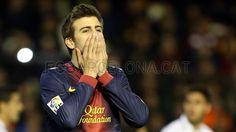 Gerard Piqué, FC Barcelona   Valencia 1-1 FC Barcelona. 2013-02-03.