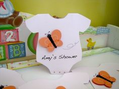 Butterfly Onesie - Baby Shower