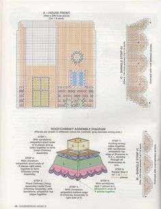 GINGERBREAD ANGELS - PAGE 20 - GINGERBREAD HOUSE TISSUE COVER 3/5
