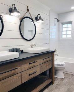 Sleek Shiplap Wall Ideas For Master Bathroom bathrooms ideas for teen girls interior ideas apartment ideas diy ideas on a budget Bathroom Renos, Basement Bathroom, Bathroom Fixtures, Bathroom Interior, Master Bathroom, Bathroom Ideas, Remodel Bathroom, Bathroom Organization, Bathroom Remodeling