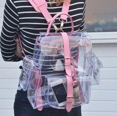 Kawaii pink transparent backpack SE7992 | Bags, Fabric material ...