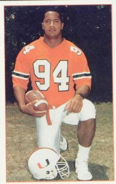 dwayne johnson university of miami 'The Rock The Rock Football, Miami Football, College Football Teams, Ncaa College, Football Players, The Rock Dwayne Johnson, Rock Johnson, Dwayne The Rock, Hurricanes Football
