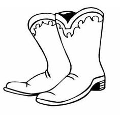 Cowboy Boots coloring page- Yeehaw!
