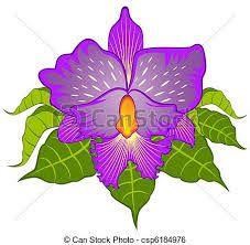Hasil gambar untuk dibujos de orquideas