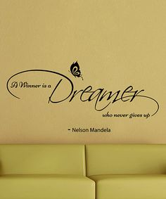 'Dreamer' Mandela Quote Wall Decal Set