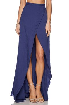 THE JETSET DIARIES Her Allies Maxi Skirt in Navy | REVOLVE