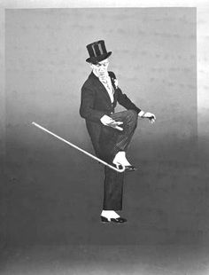 Fred Astair in the 'Putting on the Ritz' number, from the film 'Blue Skys' - 1945