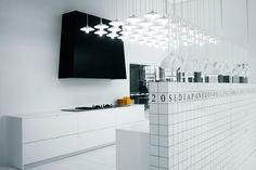 A bit too much light maybe for a normal in home kitchen, but nice idea! elisa ossino studio : exhibitions/events