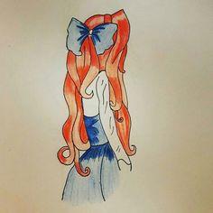 Girl. Little mermaid. Ariel. Dibujo. Drawings.