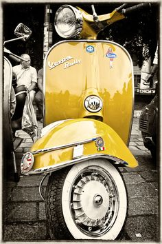 To know more about Vespa Yellow Vespa, visit Sumally, a social network that gathers together all the wanted things in the world! Featuring over 396 other Vespa items too! Piaggio Vespa, Scooters Vespa, Motos Vespa, Lambretta Scooter, Motor Scooters, Vespa Vbb, Vespa Motorcycle, Gas Scooter, Motorcycle Engine