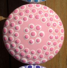 Dotted Pink and White Drawer Knob by sweetmixcreations on Etsy, $7.00