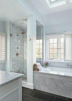 Marble bathroom, slate floor