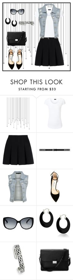 """""""Untitled #938"""" by gallant81 ❤ liked on Polyvore featuring Joseph, Alexander Wang, Yves Saint Laurent, Jimmy Choo, GUESS by Marciano, Bling Jewelry, Kevin Jewelers and Aspinal of London"""