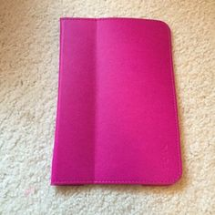 IHome iPad mini case Dark pink color. Never used. Can be folded to stand up. Leather material. Very protective. iHome Other