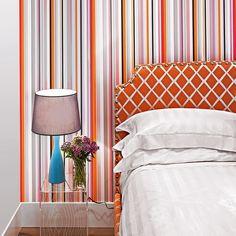 decoração de quarto laranja
