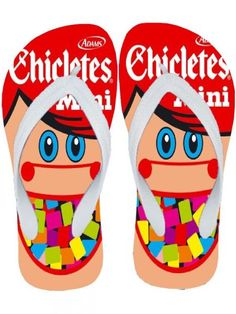 Chinelo Mini Chicletes.